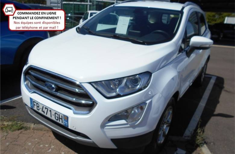 FORD EcoSport 1.0 EcoBoost 125 BVM6  Titanium Business - véhicule d'occasion - Groupe Guillet