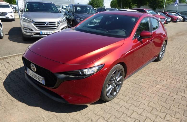 MAZDA Mazda3 5 portes 2.0L SKYACTIV-G M Hybrid 122 ch BVA6  Style - véhicule d'occasion - Groupe Guillet